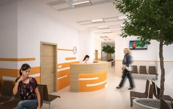 Vstupné priestory s čakárňou.
